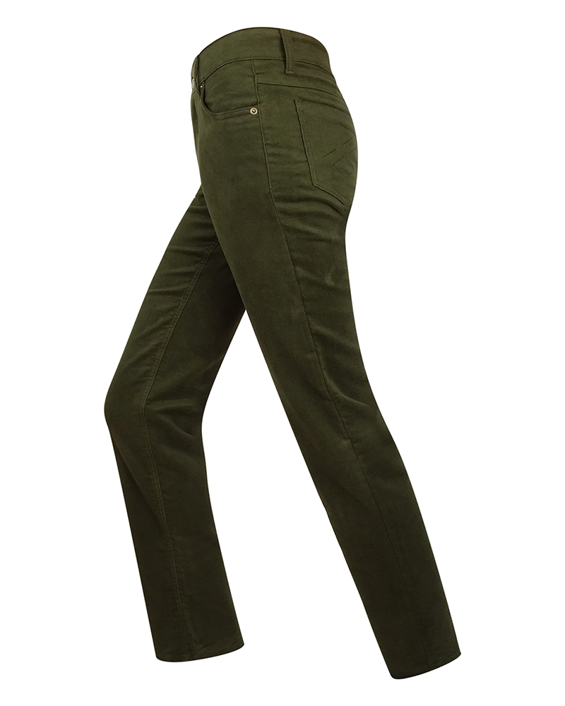 Image for Ladies Straight Leg Stretch Moleskin Jeans