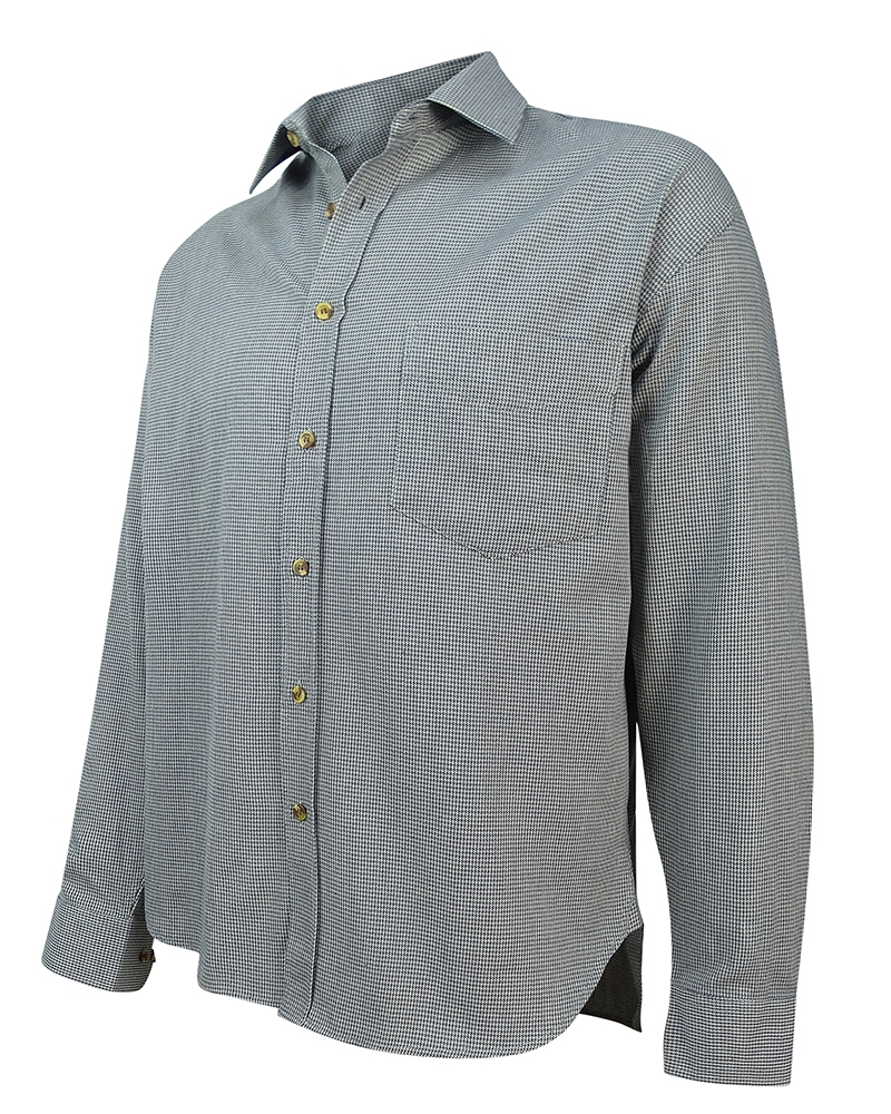 Image for Pure Cotton Pin Check Shirt