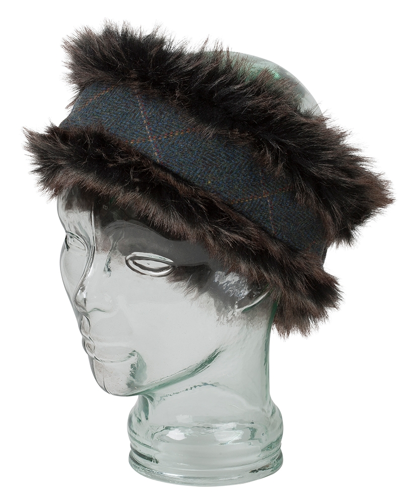 Image for Sherborne Faux Fur/Lambswool Tweed Headband
