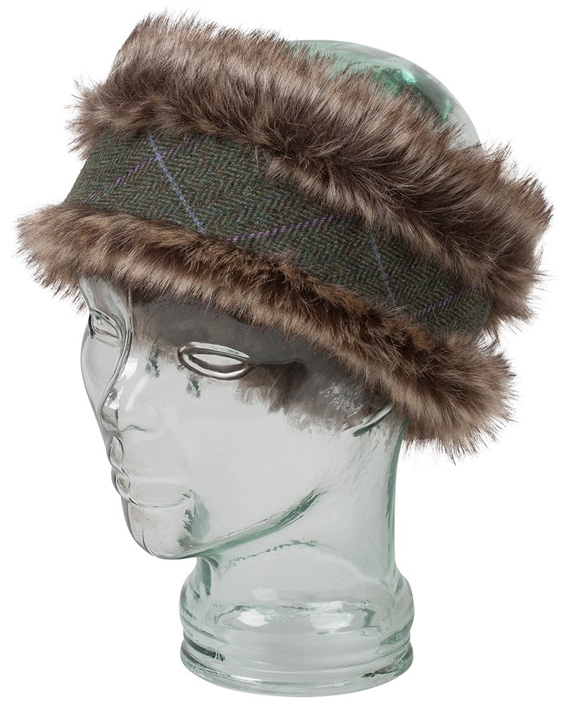 Image for Albany Faux Fur/Lambswool Tweed Headband