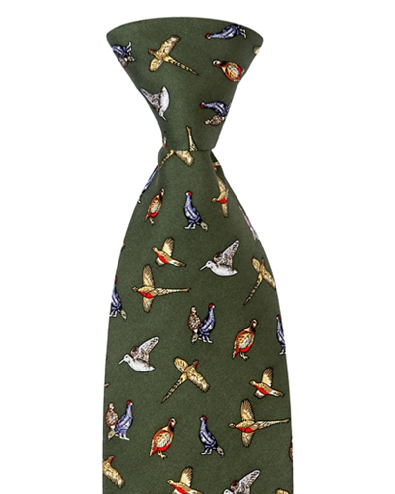 Image for Silk Country Tie (Mixed Birds)