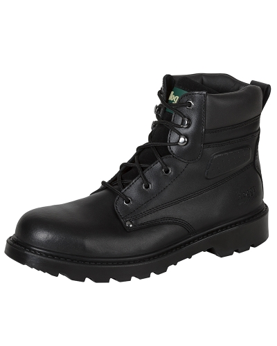 Classic L4 Lace-up Safety Boots (Black)