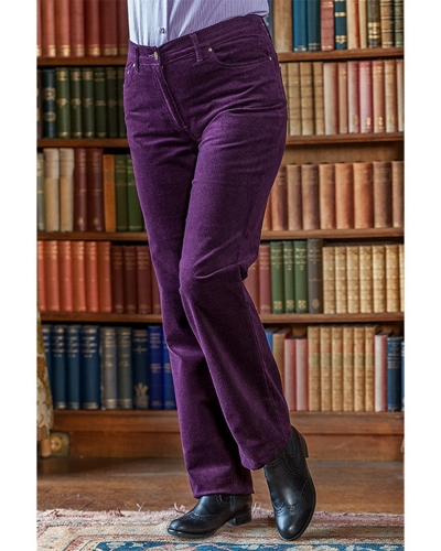 Ladies Stretch Cord Jeans (Mulberry Modelled)