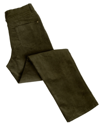 Ladies Stretch Cord Jeans (Olive)