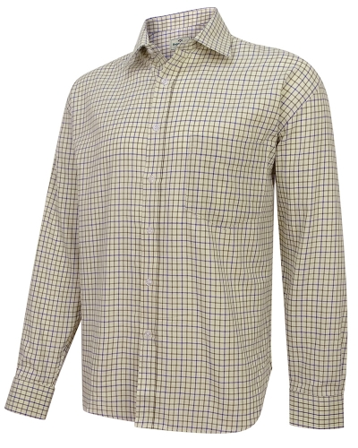Pure Cotton Tattersall Check Shirts (Navy/Olive)