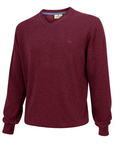 Stirling Cotton Pullover (Burgundy)