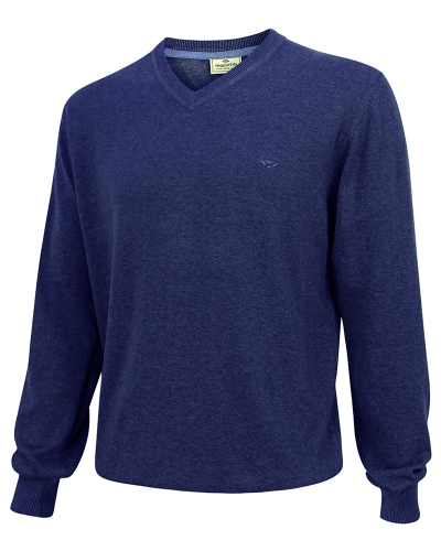 Stirling Cotton Pullover (Navy Denim)