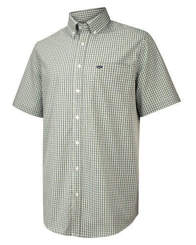 Perth Short Sleeve Checked Shirt (Green Check)