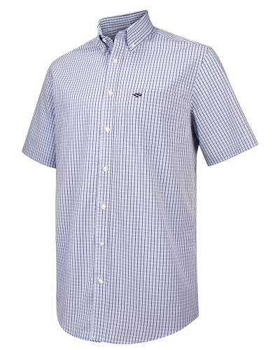 Perth Short Sleeve Checked Shirt (Blue Check)