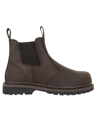 Zeus Safety Dealer Boots (Crazy Horse Brown)