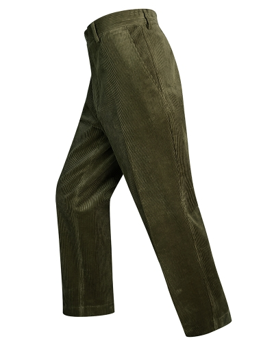 Mid-weight Cord Trousers (Olive)