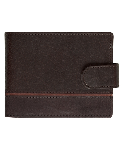 Hoggs of Fife Billfold Leather Wallet (Brown/Cognac)