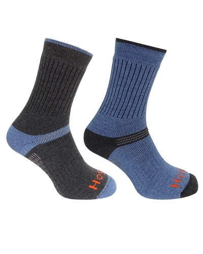 1905 Tech Active Sock (Charcoal/Denim)