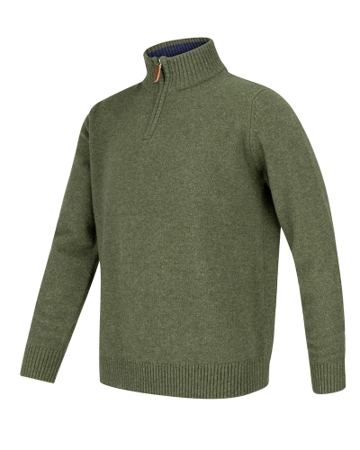 LOTHIAN 1/4 ZIP NECK PULLOVER (Thyme)